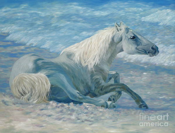 Seascape Poster featuring the painting Free Spirit by Danielle Perry