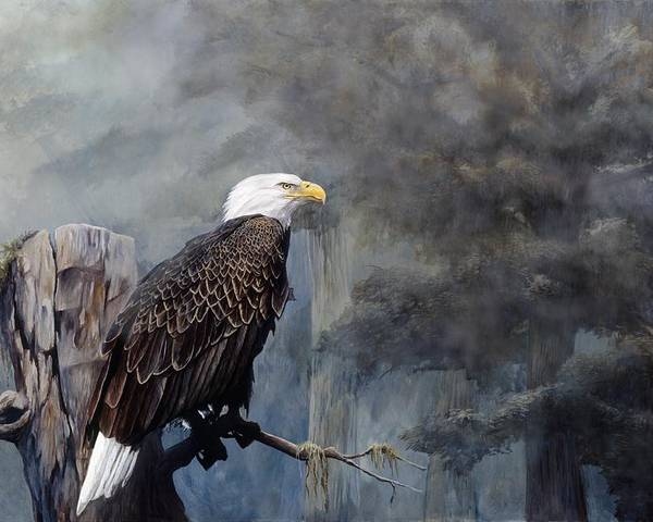 Eagle Art Poster featuring the painting Freedom Haze by Steve Goad