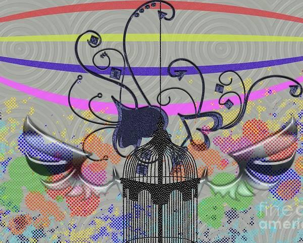 Heart Poster featuring the digital art Freedom Of Heart by Ankeeta Bansal