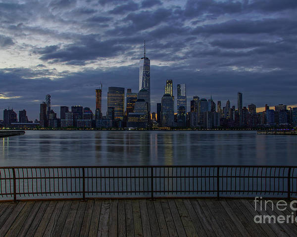 Hudson River Poster featuring the photograph Freedom Tower by Brian Kamprath