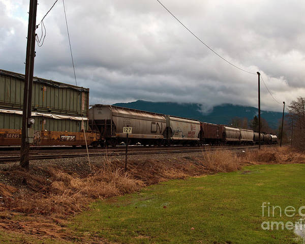 Clay Poster featuring the photograph Freight Rain by Clayton Bruster