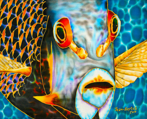 French Angelfish Poster featuring the painting French Angelfish Face by Daniel Jean-Baptiste