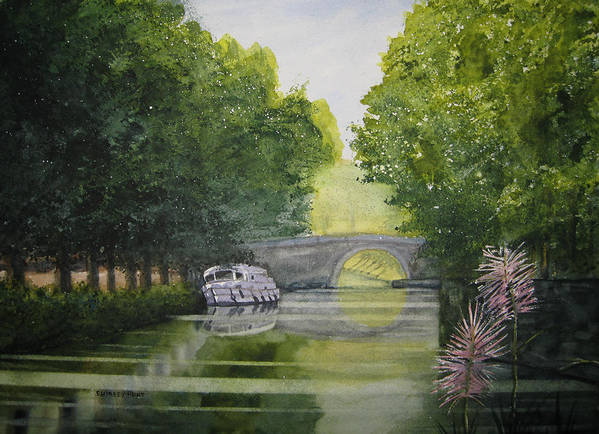 Landscape Poster featuring the painting French Canal by Shirley Braithwaite Hunt