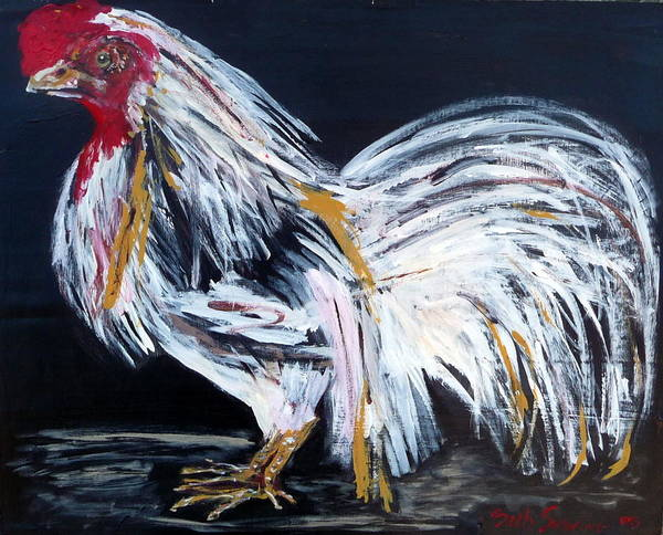 French Poster featuring the painting French Country Chicken by Beth Sebring