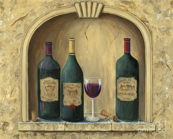 Europe Poster featuring the painting French Estate Wine Collection by Marilyn Dunlap