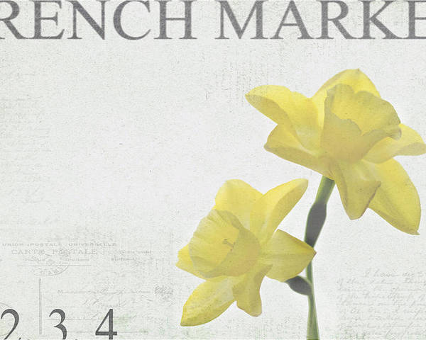Market Poster featuring the photograph French Market Series B by Rebecca Cozart