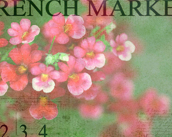 Red Poster featuring the photograph French Market Series I by Rebecca Cozart