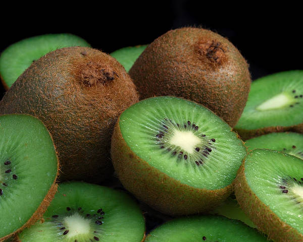 Kiwi Poster featuring the photograph Fresh Kiwi by Terence Davis
