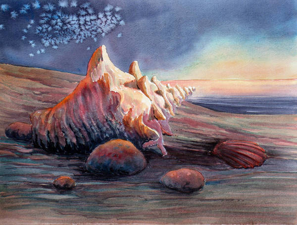 Seashell Poster featuring the painting From Another World by Don Trout