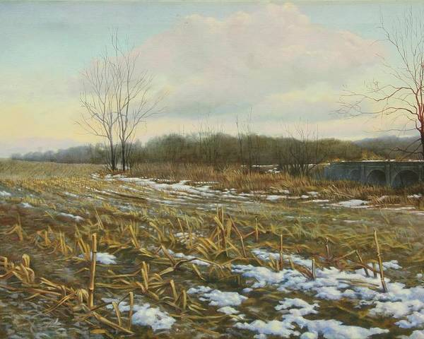 Landscape Poster featuring the painting Frost by Stephen Bluto