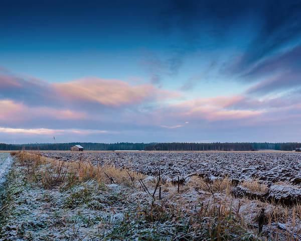 Finland Poster featuring the photograph Frosty Fields by Jukka Heinovirta