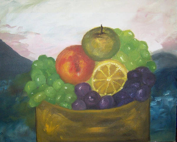Oil Painting Poster featuring the painting Fruit of the Land by Pamela Wilson