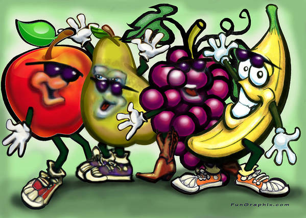 Fruit Poster featuring the painting Fruits by Kevin Middleton