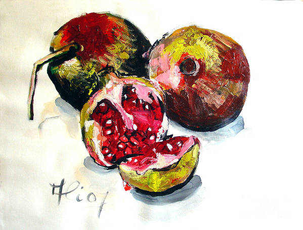 Contemporary Poster featuring the painting Fruits Of Heaven by Ali Hammoud