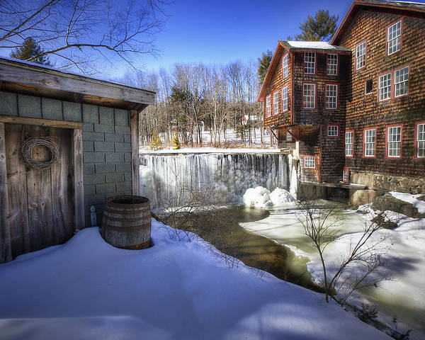 Frye's Poster featuring the photograph Frye's Measure Mill by Eric Gendron