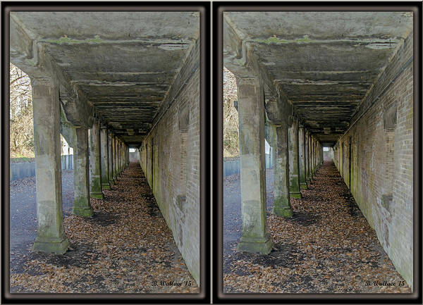 3d Poster featuring the photograph Ft. Howard Pk- Tunnel Effect - 3d Stereo X-view by Brian Wallace