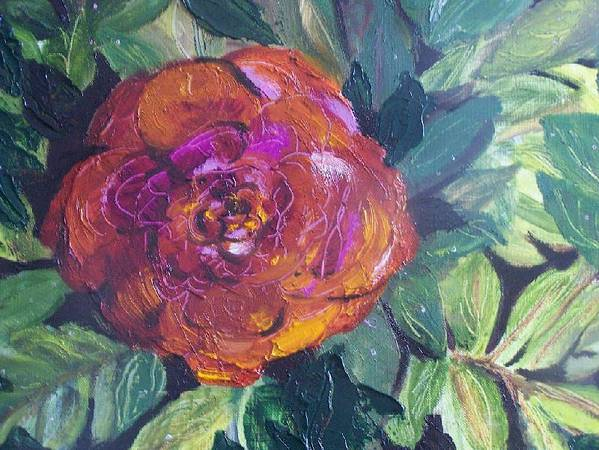 Flower Poster featuring the painting Full Bloom by Pamela Wilson