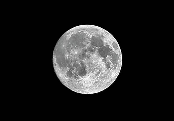 Horizontal Poster featuring the photograph Full Moon by Richard Newstead