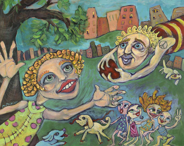 Whimsical Poster featuring the painting Fun At The Park by Michelle Spiziri