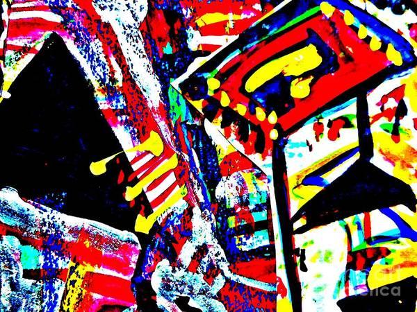Katerina Stamatelos Poster featuring the painting Funky Pop-10 by Katerina Stamatelos