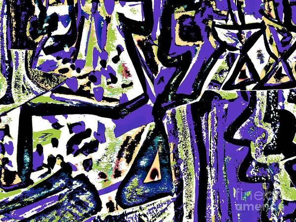 Katerina Stamatelos Poster featuring the painting Funky Pop-15 by Katerina Stamatelos