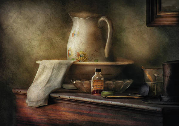 Savad Poster featuring the photograph Furniture - Table - The Water Pitcher by Mike Savad