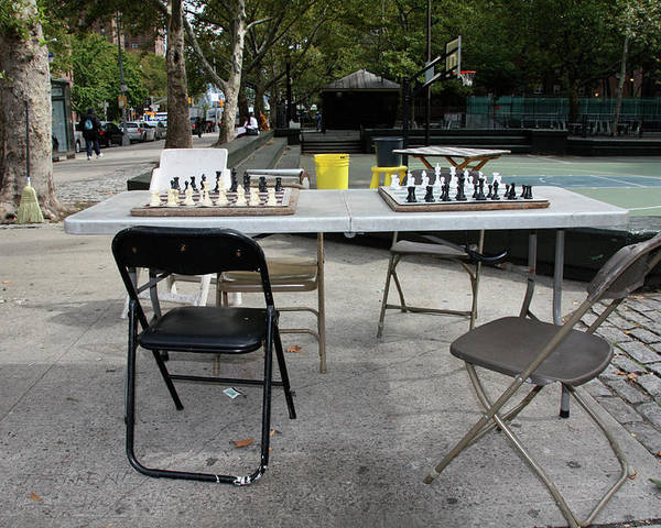 Harlem Poster featuring the photograph Game Of Chess Anyone by Terry Wallace