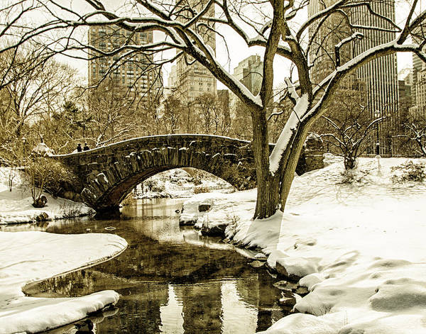 Winter Poster featuring the photograph Gapstow Bridge by Michael Belling