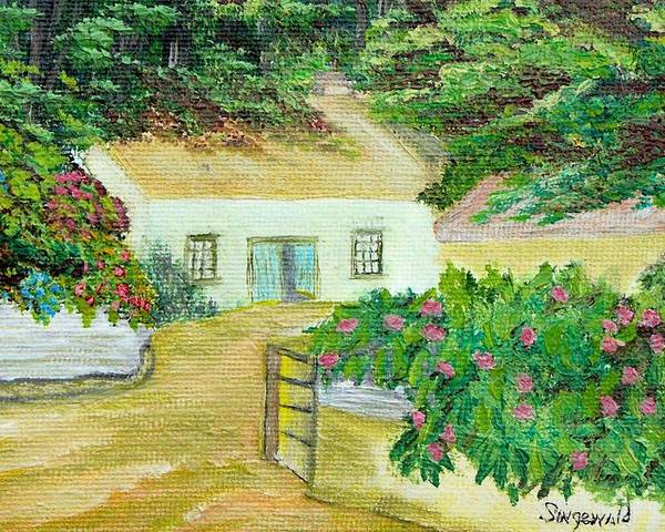Garden Poster featuring the painting Garden by Cary Singewald