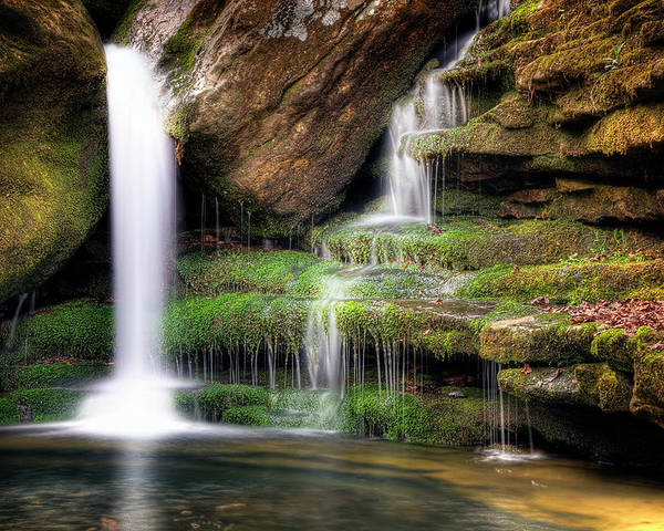 Waterfall Poster featuring the photograph Garden Of Eden by Tamyra Ayles