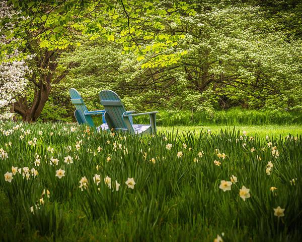 Chanticleer Gardens Poster featuring the photograph Garden Seats by Kristopher Schoenleber