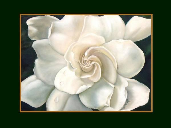 Gardeniaflower Poster featuring the painting Gardenia by Darlene Green