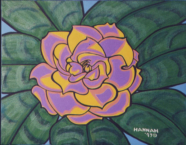 Flower Poster featuring the painting Gardenia by Hannah Lasky