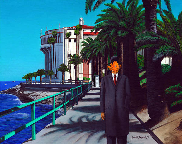 Catalina Poster featuring the painting Gary Baldie by Snake Jagger