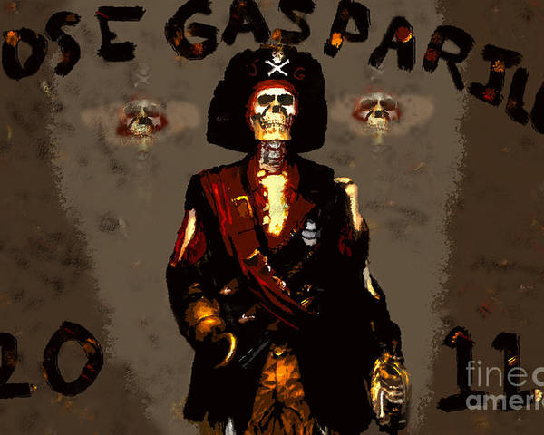 Art Poster featuring the painting Gasparilla 2011 by David Lee Thompson