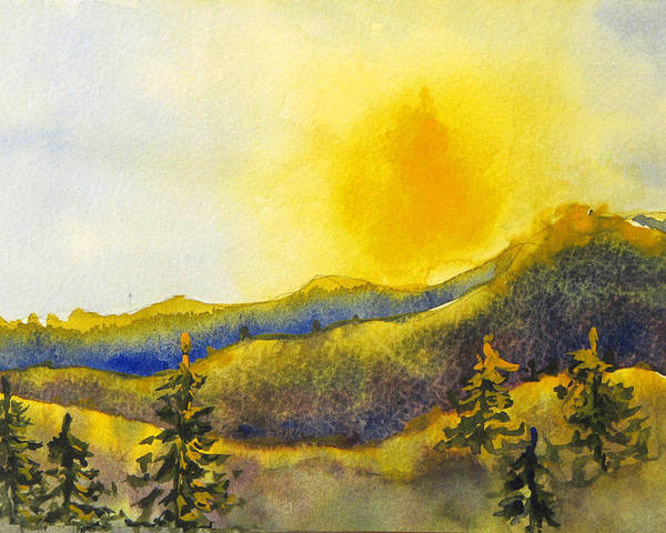 Sunset Poster featuring the painting Gassaway Sunset by Libby Cagle