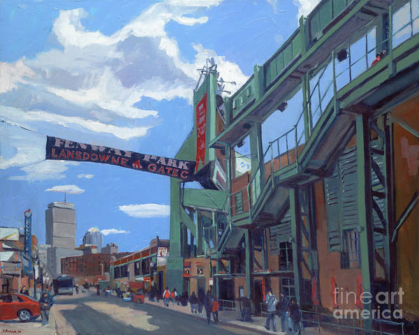Fenway Poster featuring the painting Gate C by Deb Putnam