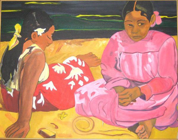 Gaugin Poster featuring the painting Gaugin by AVK Arts