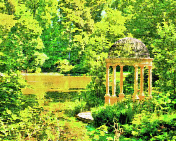 Foliage Poster featuring the photograph Gazebo By The Lake by Lou Ford
