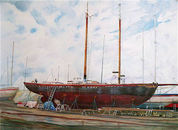 Ship Poster featuring the painting Genevieve by Wendy Hill