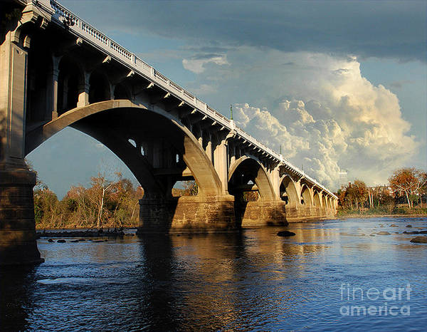 Scenic Tours Poster featuring the photograph Gervais Street Bridge, Columbia, Sc by Skip Willits