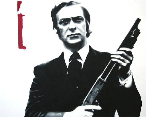 Michael Caine Poster featuring the painting Get Carter 2013 by Luis Ludzska