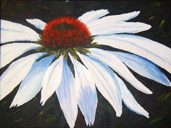 Cone Flowers Poster featuring the painting Ghost Cone by Tami Booher