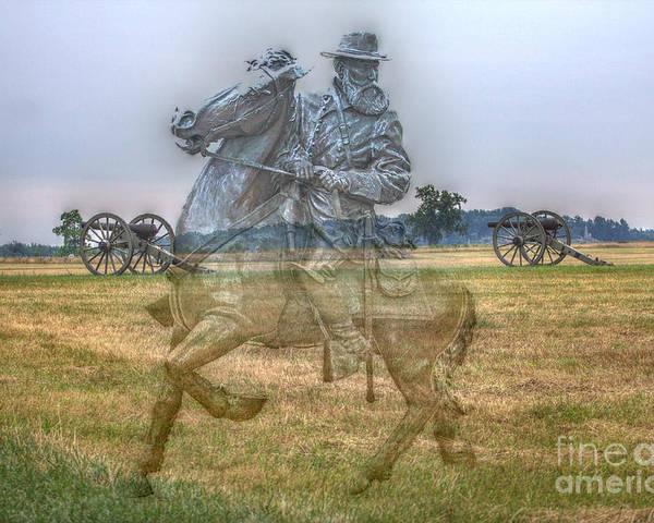 Ghost Of Gettysburg Poster featuring the digital art Ghost Of Gettysburg by Randy Steele