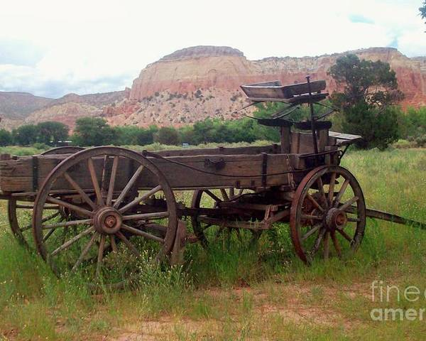 Old West Poster featuring the photograph Ghost Ranch Wagon by Sandra McClure