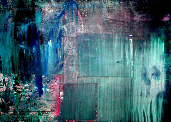 Abstract Poster featuring the painting Ghosts 4 by Leigh Odom