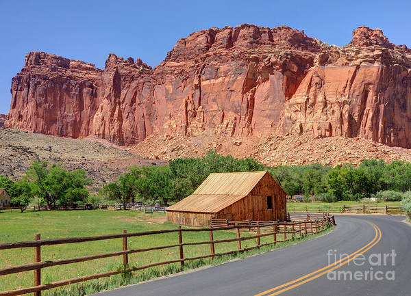 Utah Poster featuring the photograph Gifford Homestead Barn - Capitol Reef National Park by Gary Whitton