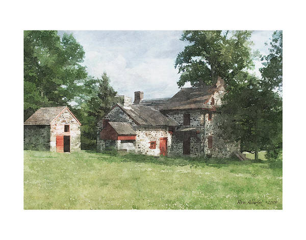 Digital Poster featuring the photograph Gilpen House by Ron Alderfer