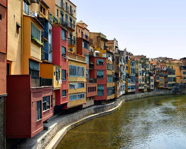 Girona Poster featuring the photograph Girona Riverfront by Mathew Lodge