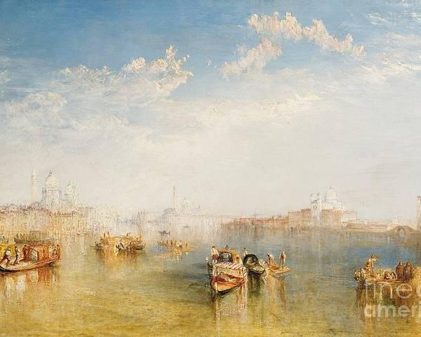 Boat Poster featuring the painting Giudecca La Donna Della Salute And San Giorgio by Joseph Mallord William Turner